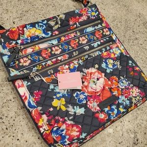 Vera Bradley Triple Zip Hipster in Pretty Posies